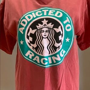 Comfort Colors Tops - Addicted to racing shirt race chic